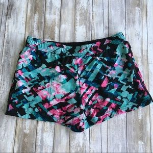 Fabletics Floral Athletic Running Shorts Size M